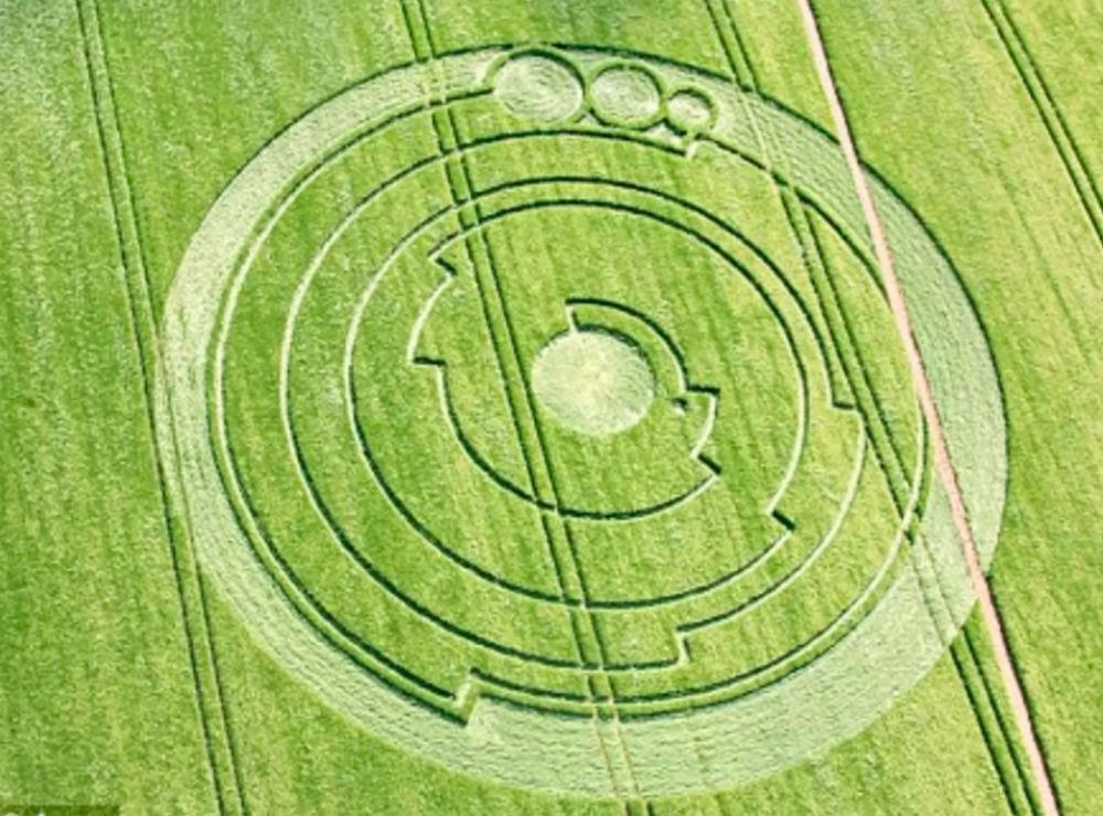 Узоры на полях в Уилтшире.