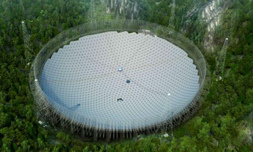 Крупнейший в мире радиотелескоп для приема сигналов от инопланетного разума построили в Китае