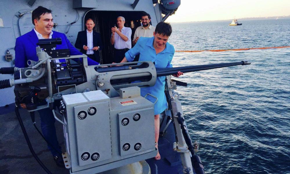 Савченко рассказала, как отдохнула с Саакашвили и американскими матросами на военном корабле