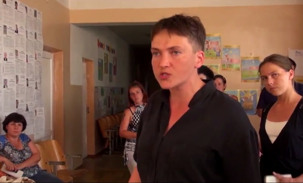 Надежда Савченко пригрозила вырезать членов избирательной комиссии в Луганской области