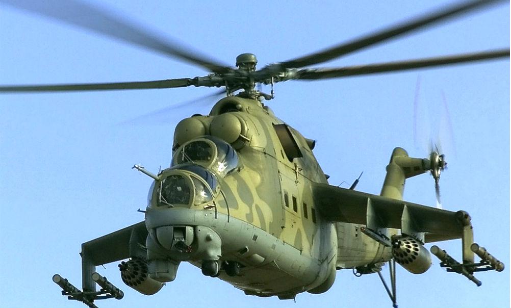 Российский экипаж боевого вертолета Ми-25 погиб, сорвав наступление террористов в Сирии