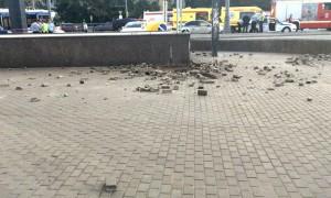 Опубликовано видео с места взрыва у станции метро