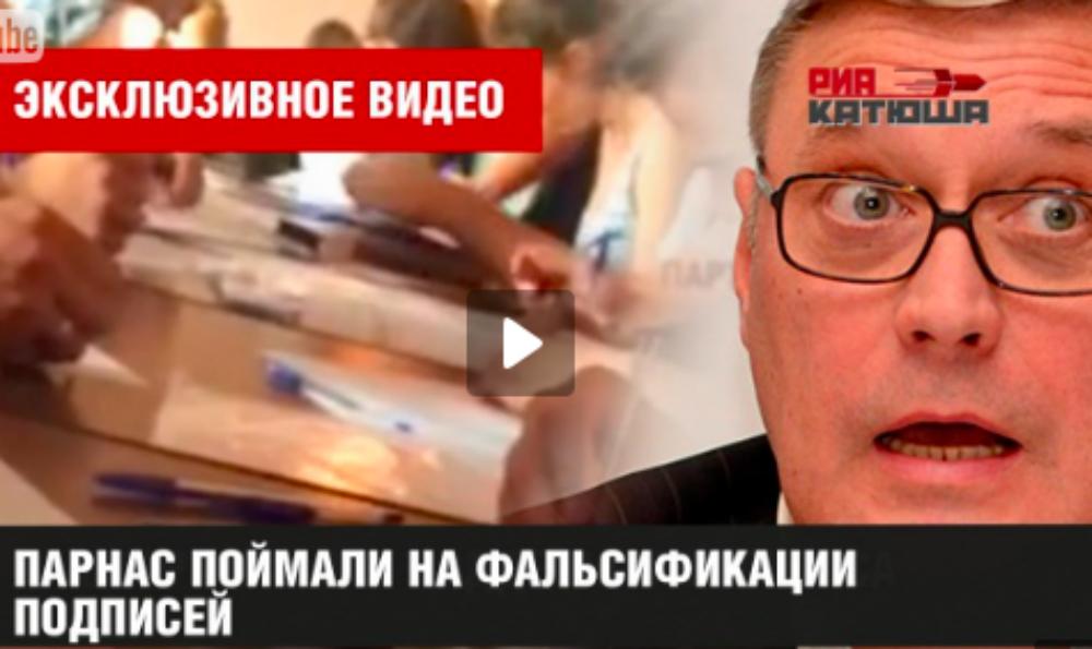 ПАРНАС назвал фальшивкой видеозапись подделки подписей