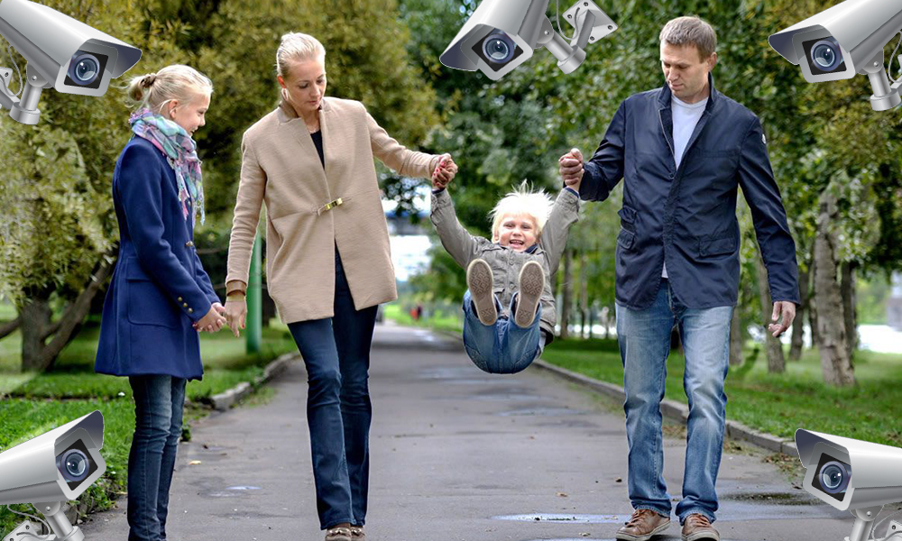 Навальный обратился с заявлением о «неприемлемой и опасной» слежке за его женой и детьми