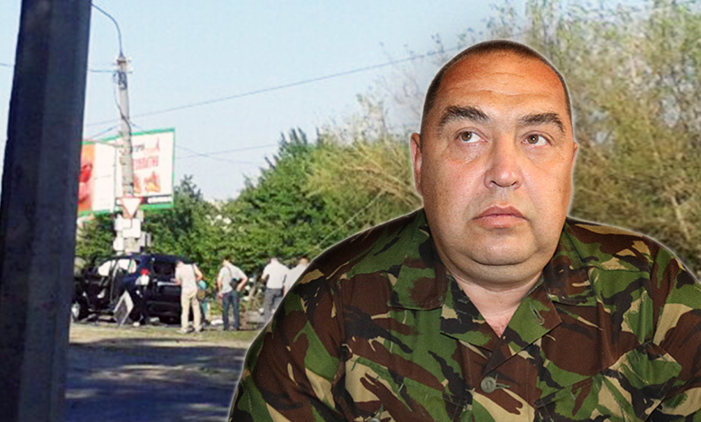 Появилось видео с места взрыва джипа главы ЛНР в Луганске