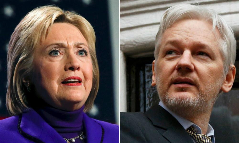 Ассанж сравнил президентскую кампанию Клинтон с антироссийской истерией