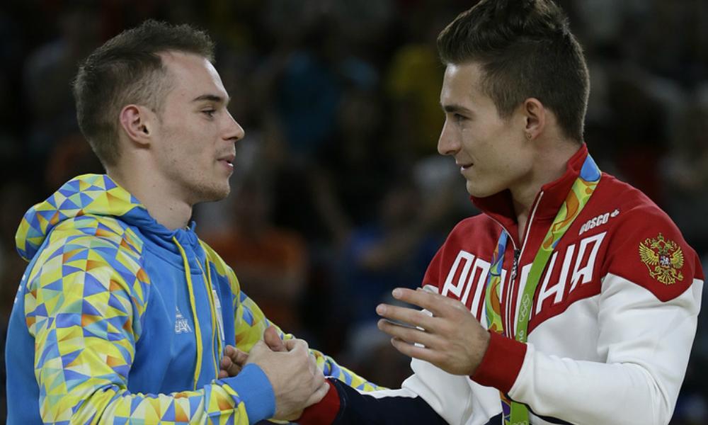 Российский гимнаст Давид Белявский на брусьях стал третьим после украинца из Донецка и американца