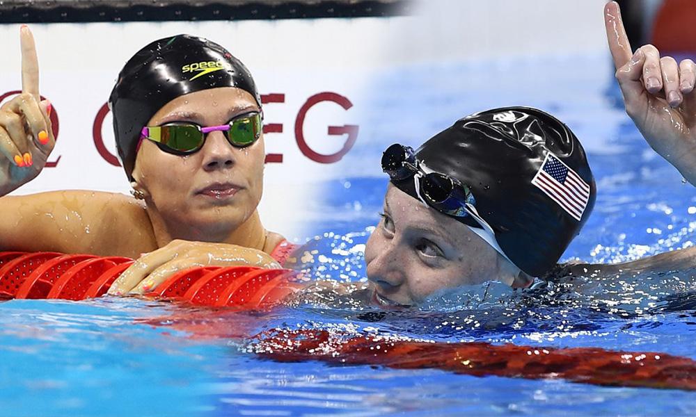 Пловчиху из США возмутил жест Юлии Ефимовой после полуфинального заплыва на Играх в Рио