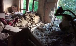Опубликовано видео жутких последствий смертельного обстрела Горловки украинской артиллерией