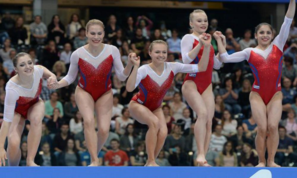 Женская сборная России по спортивной гимнастике завоевала «серебро» в командных соревнованиях