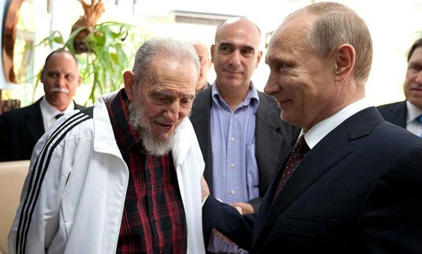Владимир Путин поздравил Фиделя Кастро с 90-летием теплыми словами, а кубинцы - рекордной сигарой