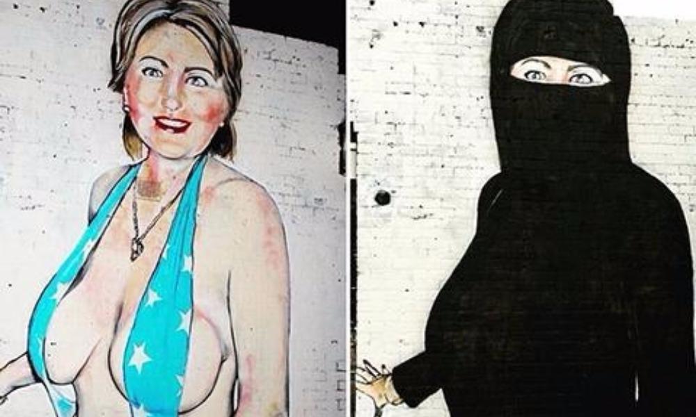 Австралийский уличный художник превратил Хиллари Клинтон из