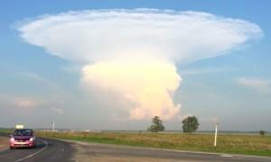 Испугавший жителей Кузбасса «ядерный гриб» сняли на видео