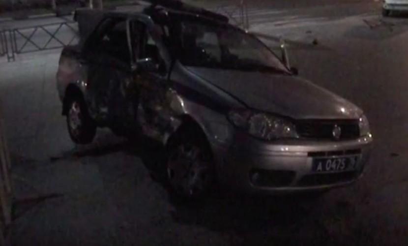 Опубликовано видео с места аварии с участием полицейского Fiat у планетария в Ярославле