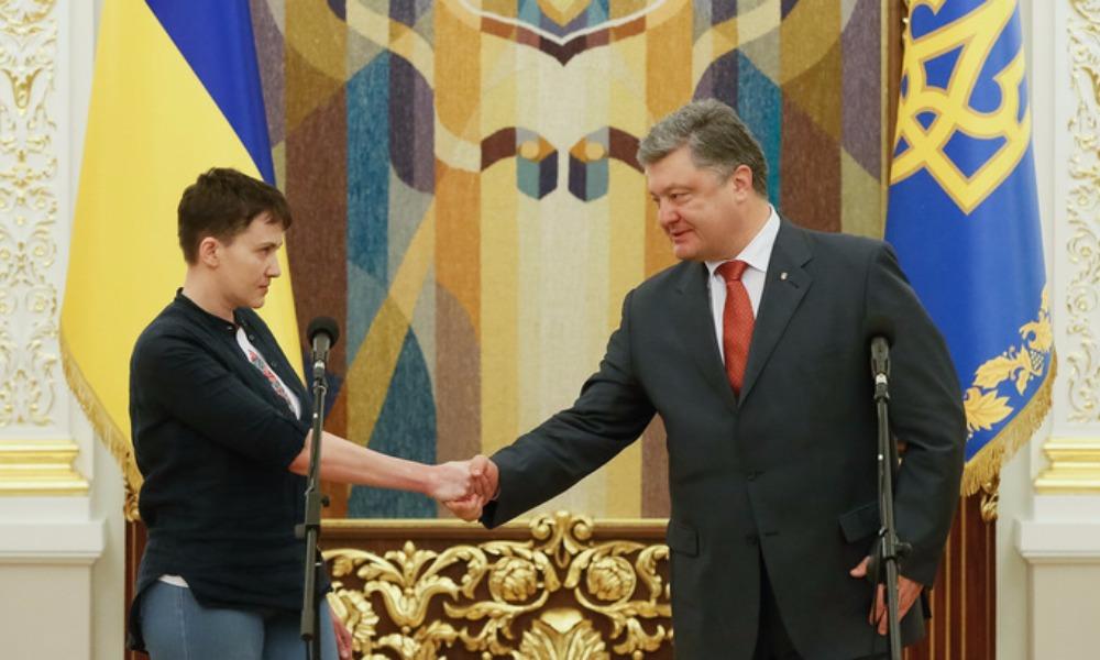 Савченко призвала Порошенко отправиться в Донбасс и решать проблему пленных