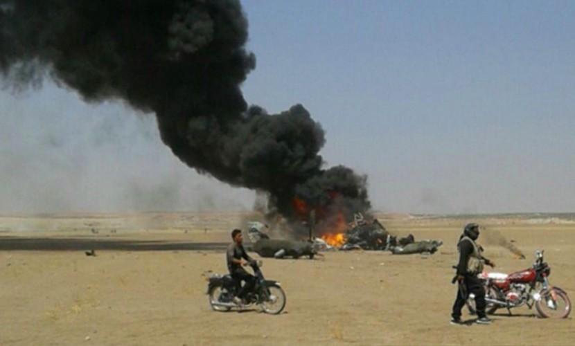Опубликовано видео сбитого в Сирии горящего вертолета Ми-8 с российскими офицерами