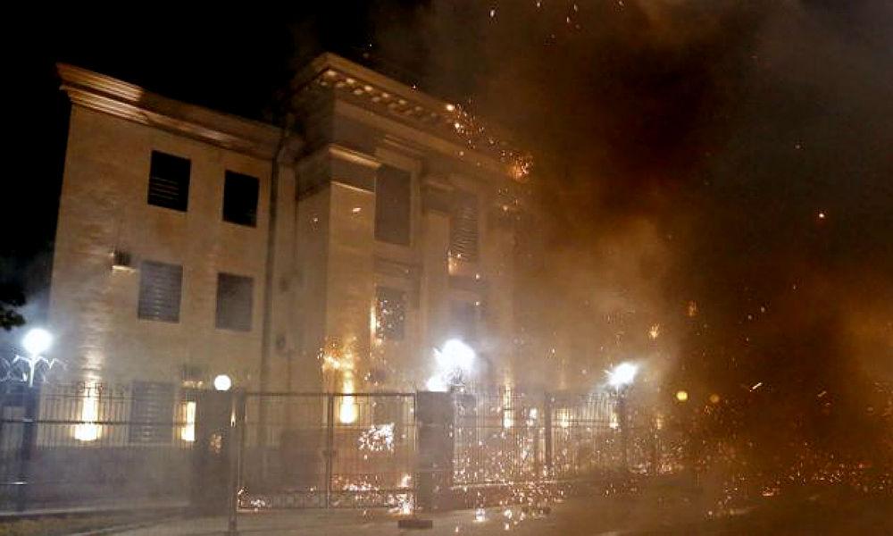 Посольство РФ в Киеве после нападения экстремистов направило МИД Украины ноту протеста