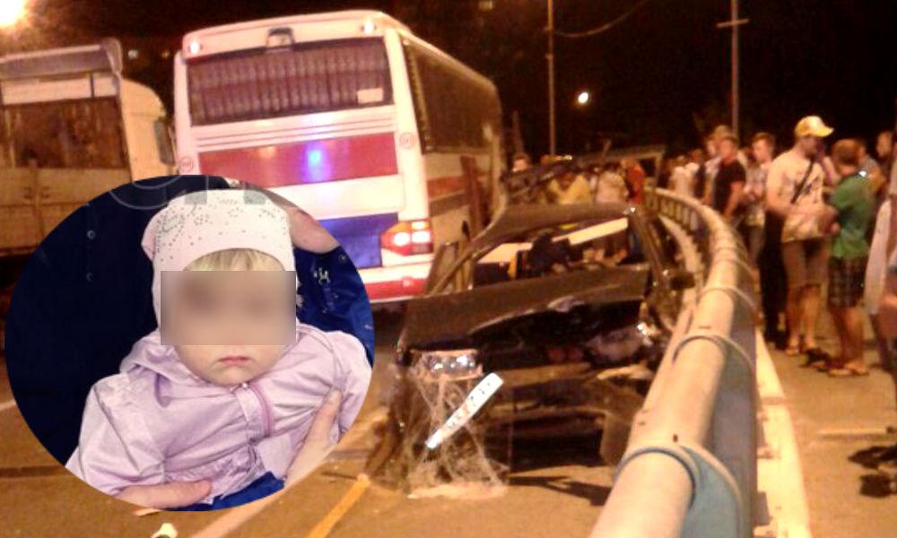 Семья с трехлетней дочкой разбилась в ДТП на отдыхе под Туапсе