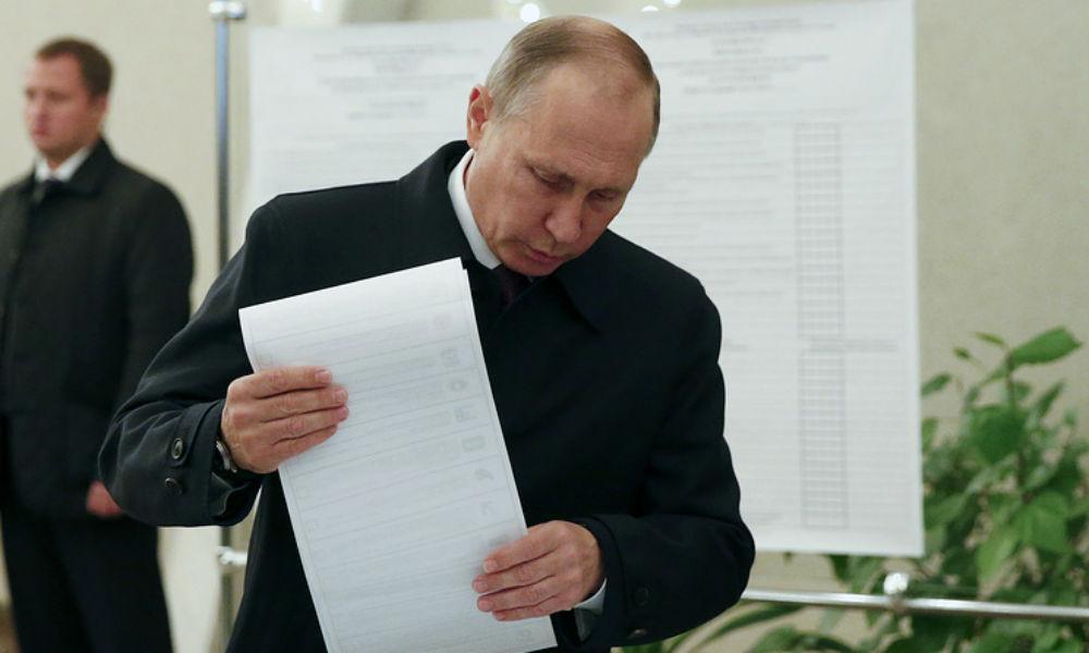 Владимир Путин проголосовал на выборах в Госдуму