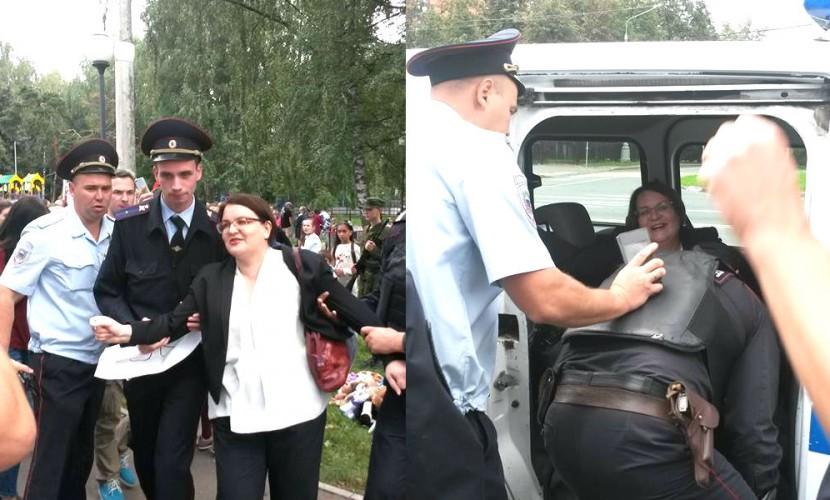 В российской столице задержали кандидата в народные избранники наакции вподдержку матерей Беслана