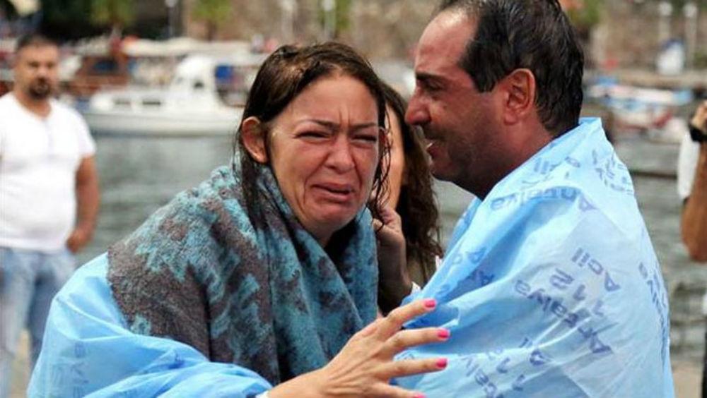 Уберегов Турции затонуло туристическое судно