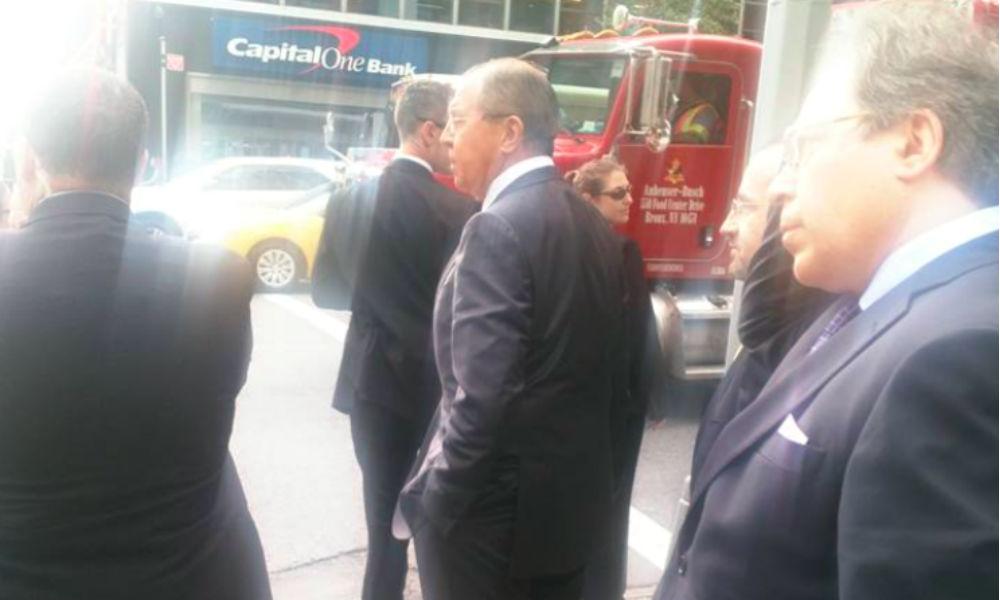Лаврову пришлось идти пешком в штаб-квартиру ООН из-за Обамы