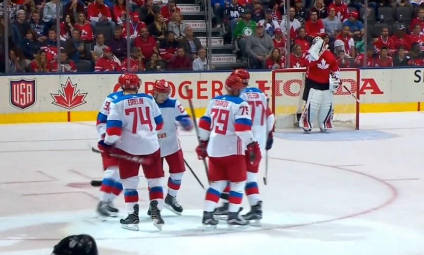 Сборная России уступила хозяевам в полуфинальном матче Кубка мира по хоккею в Торонто
