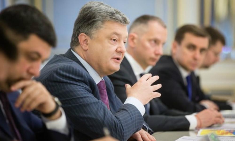 Порошенко попросил сохранить жесткое санкционное давление на Россию и поблагодарил страны G7 и ЕС за деньги