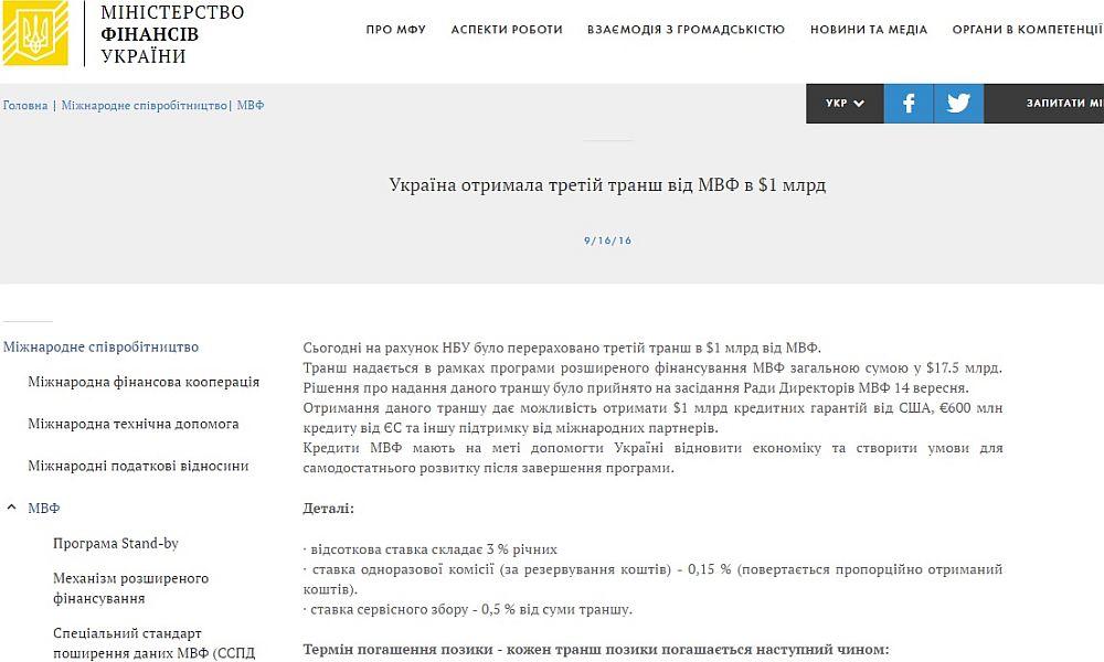 Официальный курс доллара вУкраинском государстве упал