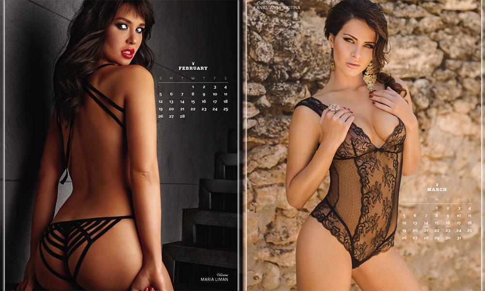 Две российские модели украсили собой знаменитый календарь мужского журнала Playboy на 2017 год