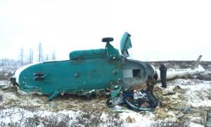 В Сети появилось видео упавшего на Ямале вертолета с нефтяниками