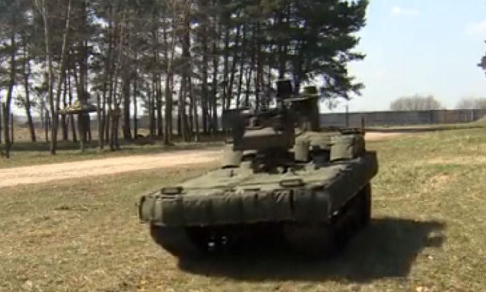 Робот-вездеход с гранатометом заступил на охрану ракетных войск РФ