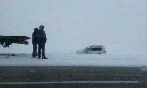 Опубликованы фото с места аварии, в которую попала Toyota замгубернатора Кемеровской области