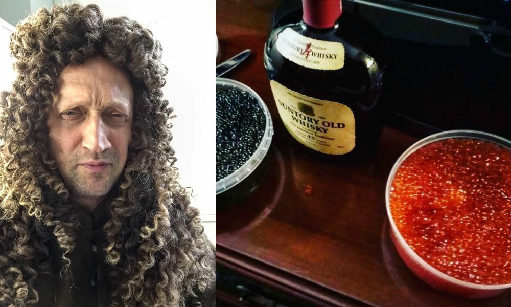 Гоша Куценко похвастался царским завтраком из «контрабандной» икры и виски
