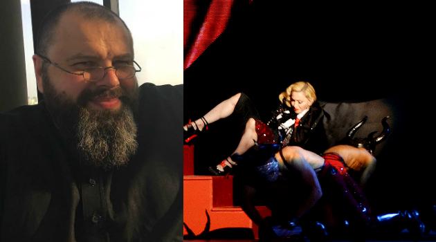Максим Фадеев опубликовал видео падения Мадонны на сцене и высмеял певицу