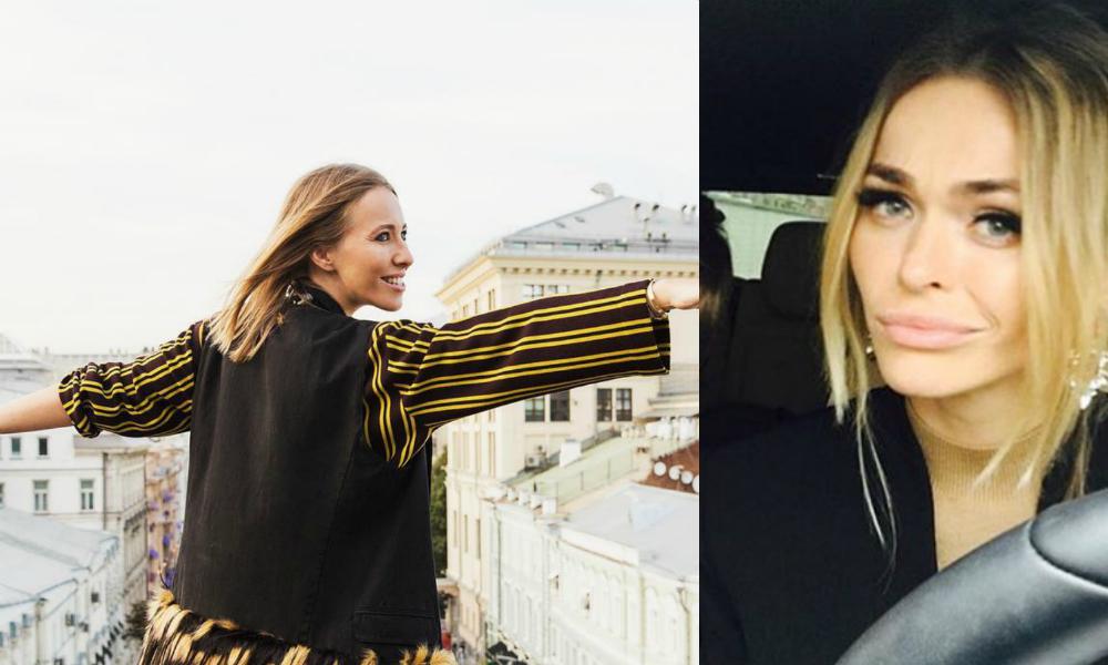 Ксения Собчак на крыше ЦУМа опровергла обвинения Анны Хилькевич о подделке брендов