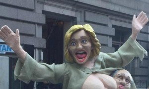 Голая «Хиллари Клинтон» привела к потасовке в центре Нью-Йорка