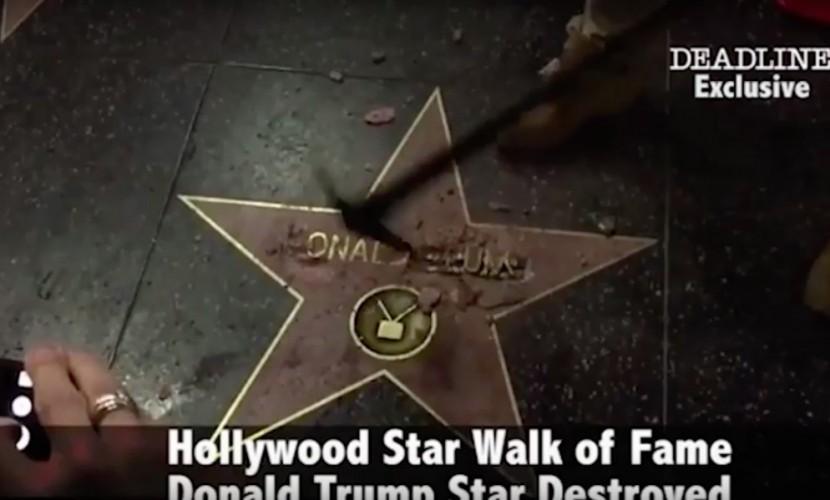 Мужчина скувалдой испортил звезду Трампа вГолливуде