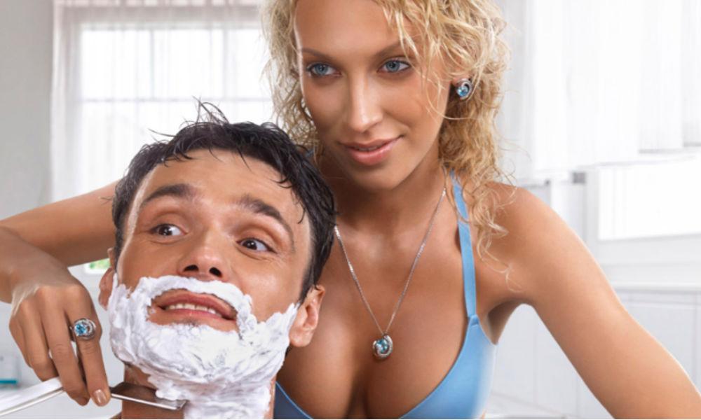 Жена бреет мужу член 140