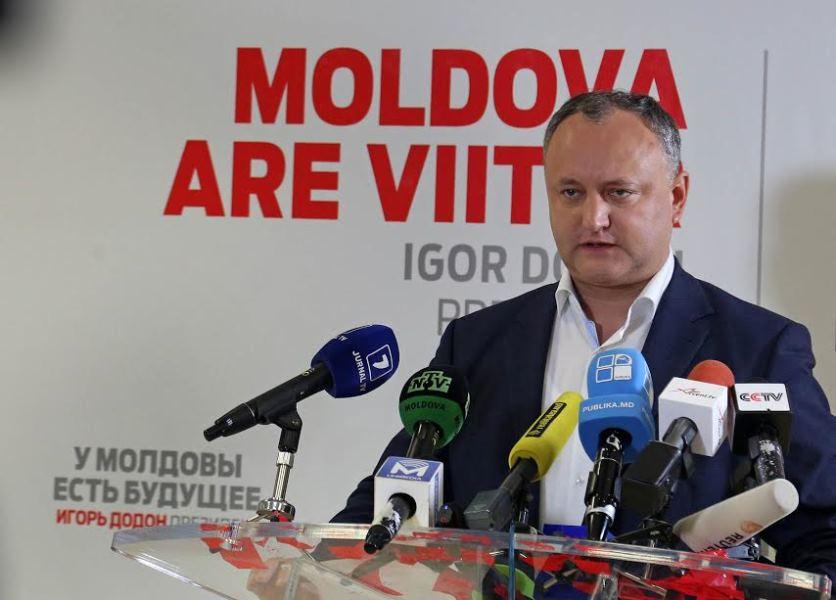 Пророссийский кандидат стал абсолютным фаворитом президентских выборов в Молдавии