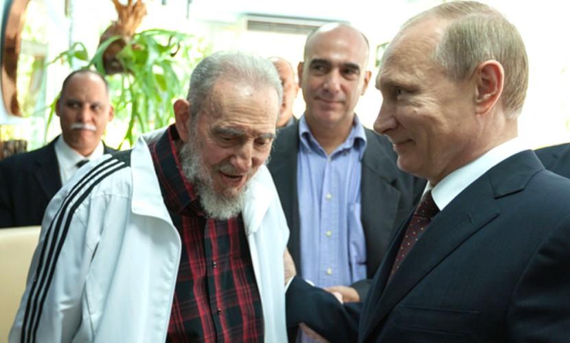 Путин обратился к Раулю Кастро в связи со смертью его знаменитого брата