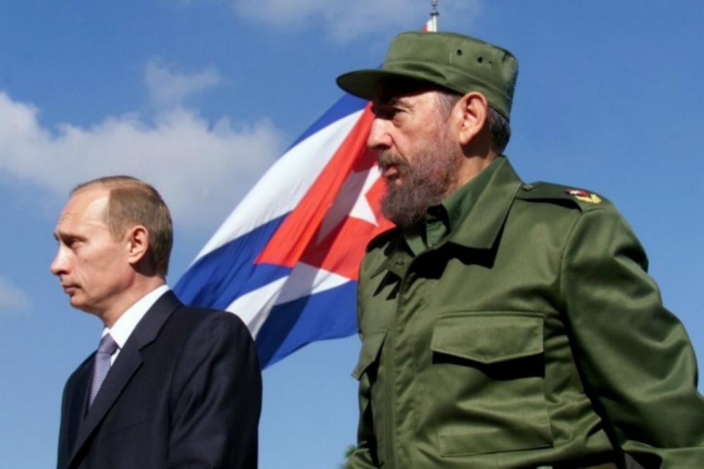 Путин и Кастро