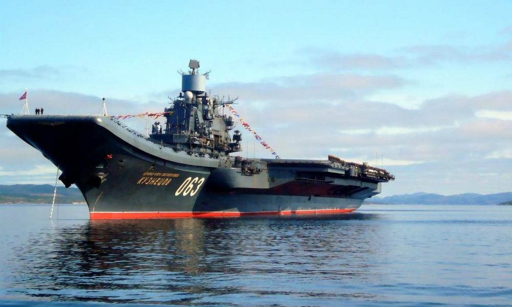 При посадке на «Адмирал Кузнецов» в Средиземном море потерпел крушение истребитель МиГ-29