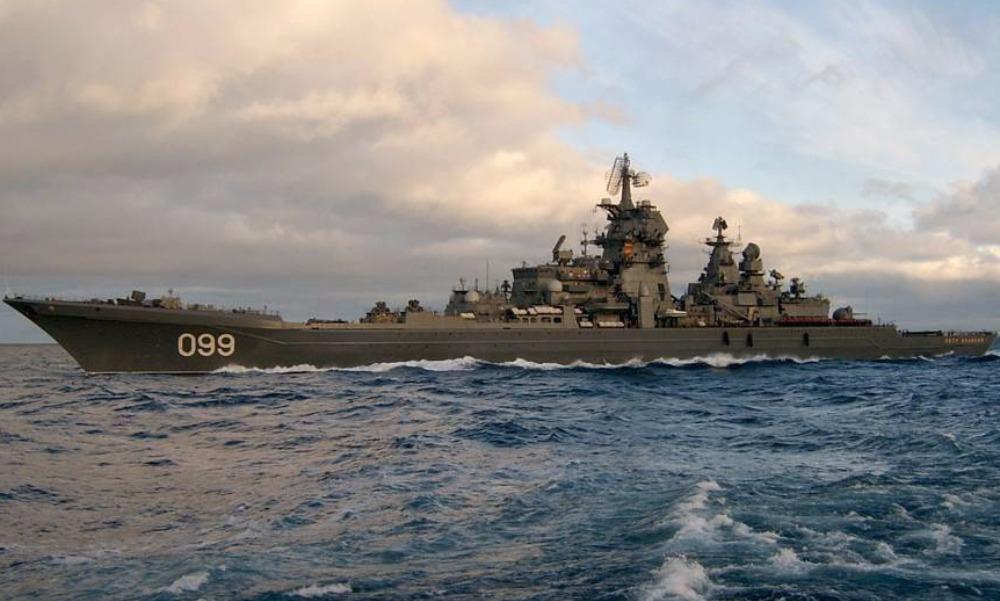 Авианосная ударная группа во главе с ракетным крейсером