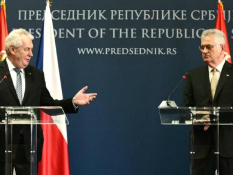 Президенты Сербии и Чехии высказались за скорейшую отмену антироссийских санкций