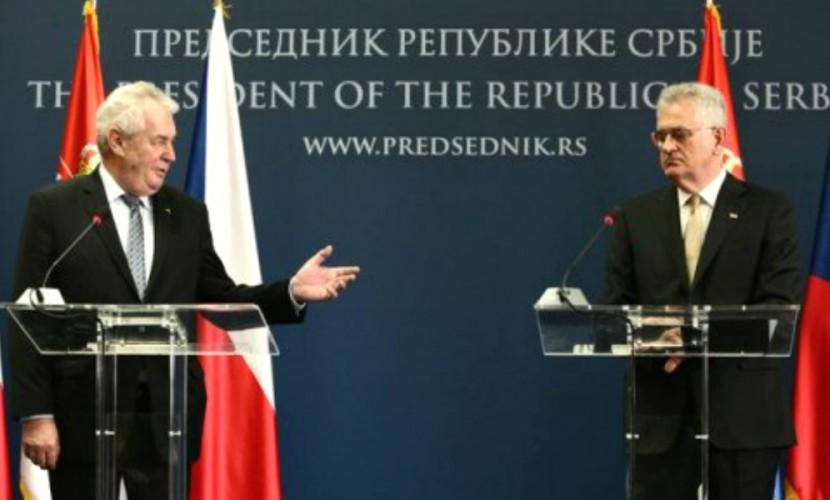 Президенты Сербии иЧехии выступили против санкцийЕС вотношении Российской Федерации
