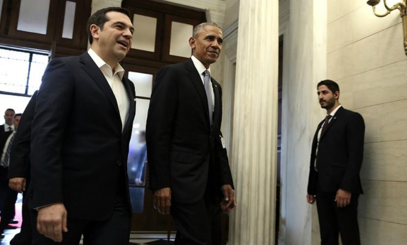 Обама «настроил» премьера Греции Алексиса Ципраса на сохранение антироссийских санкций
