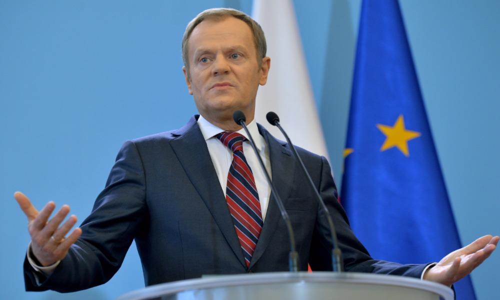 Туск пообещал быть вместе с Украиной и заявил о продлении санкций Евросоюза против России