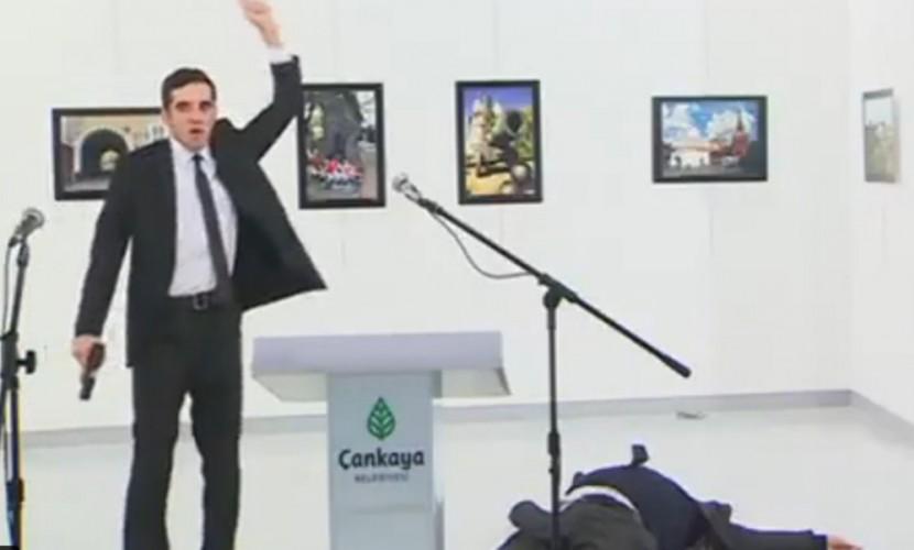 Лайф публикует видео момента расстрела русского посла вАнкаре