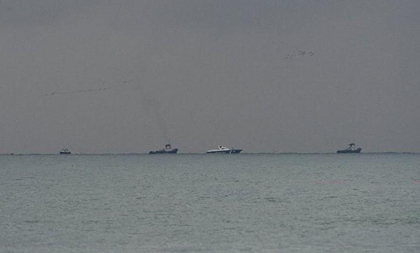 Опубликованы первые фотографии с места крушения самолета Ту-154 в Черном море